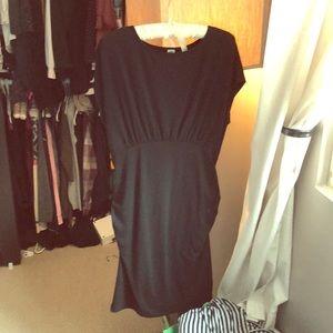 Black dolman cotton maternity dress